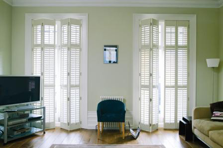 White Interior Doors on Shutters For French Windows And Patio Doors   Interior Shutters