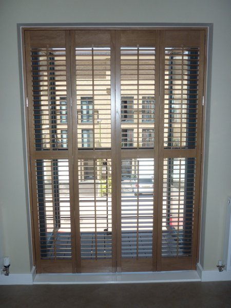 Wood Shutters For French Doors Berkhamsted