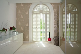 portland-white-shutters-french-doors
