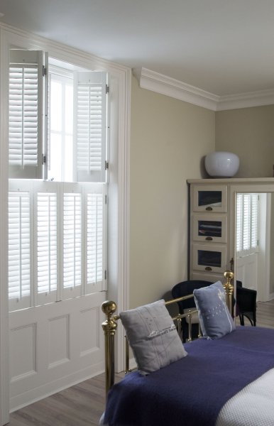 Tier on tier shutters 7 quotes for Indoor wood shutters white